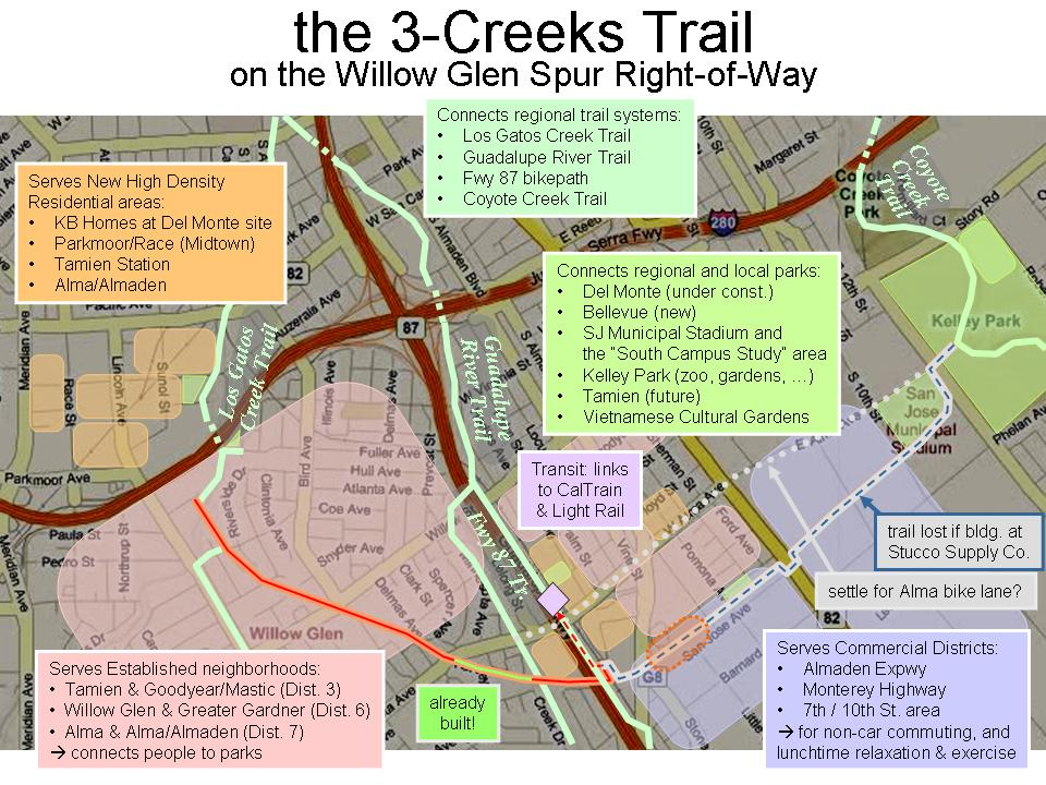 ThreeCreeks Trail Save Our Trails - San jose bike trails map